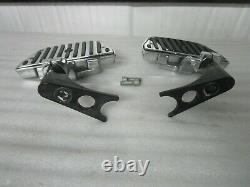 00-17 Harley Davidson Softail Chrome and Rubber Passenger Floorboards