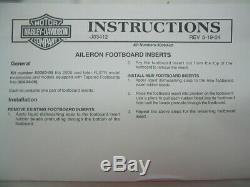 Aileron Rider Footboard Inserts Harley Softail Deluxe FLSTN FloorBoard