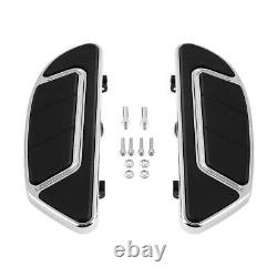 Airflow Chrome Rider Driver Passenger Floorboard Fit For Harley Touring 1993-21