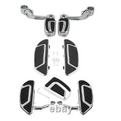 Airflow Driver Passenger Floorboard Brake Pedal Pegs Fit For Harley Touring 93+
