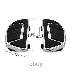 Airflow Groove Chrome Rider Passenger Floorboard Fit For Harley Touring 86-2020