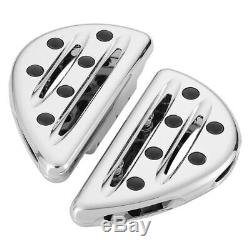 Arlen Ness 06-866 Driver and Passenger Floorboards Deep Cut Chrome Harley Cross