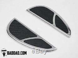 Bad Dad Chrome 905 Rear Passenger Floorboards Pair Harley FL 97-17 81201-2