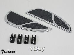 Bad Dad Chrome Floorboard Kit 905 Boards Passenger Boards Single Shift Peg 81202