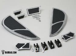 Bad Dad Chrome Floorboard Kit 905 Boards Passenger Pegs Single Shift Peg 81186-2