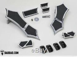 Bad Dad Chrome Floorboard Kit 966 Boards Passenger Pegs Dual Shift Peg 81168-4