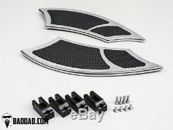 Bad Dad Chrome Floorboard Kit 992 Boards Passenger Boards Single Shift Peg 81171