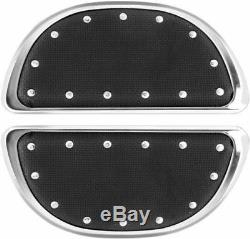 Banana Floorboards Passenger by Cyclesmiths 106 Chrome with Rivets Harley 1980-10