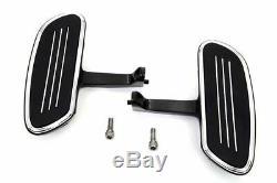 Black Chrome Streamliner Passenger Floorboard Mount Kit Harley Touring 1993-2016