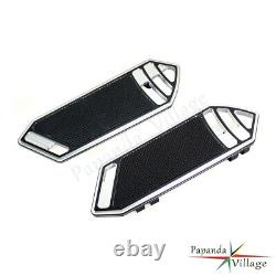Black Smooth Rider Front FootBoard Floorboard For Harley Touring Softail 84-15