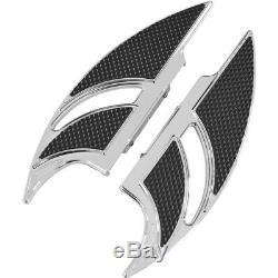 Carl Brouhard Chrome Elite Edge Passenger Floorboards for Harley FLHT