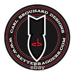 Carl Brouhard Designs FBRBSC Bomber Series Passenger Floorboards, Chrome Har