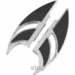Carl Brouhard Designs Rear Elite Driver Floorboard Chrome Fb-r002-c