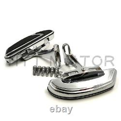 Chrome Airflow Passenger Footboard Floorboard Mounting Bracket For 93-19 Touring