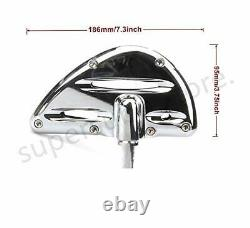 Chrome Deep edge cut Rider passenger floorboards For Harley footboards Tourin