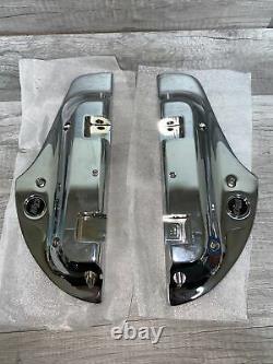 Chrome Defiance Passenger Footboard Kit 50500516 Harley Floorboard READ Descrip