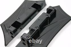 Chrome-E-O Performance Black Contrast, Rear Passenger Floorboards/Pegs Baggers