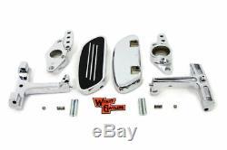 Chrome Passenger Floorboard Kit Swingarm Mount Harley Touring Bagger 93-18 OPEN