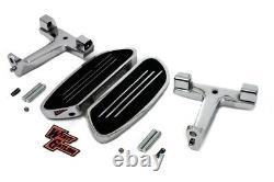 Chrome Passenger Floorboards Mounts Streamliner Style 50378-07B Harley FLT 93-08