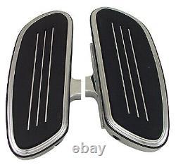 Chrome Passenger Streamliner Style Floorboards Harley Touring FLH/T 50420-04