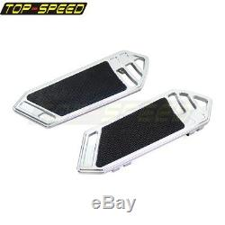 Chrome Rider Floorboard Foot Peg Footrest For Harley Touring Softail 1984-15 New