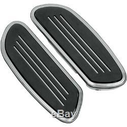 Drag Chrome Sweeper Swept Streamliner Passenger Floorboards Harley FL & Softail