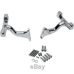 Drag Specialties 1621-0392 Touring Chrome Passenger Floorboard Mounts For OE