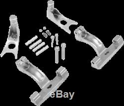 Drag Specialties 1621-0512 Passenger Floorboard Mount Kits for Softail Chrome