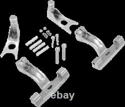 Drag Specialties Passenger Floorboard Mount Kits for Softail Chrome