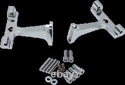 Drag Specialties Standard Passenger Floorboard Mounts Chrome 1621-0392