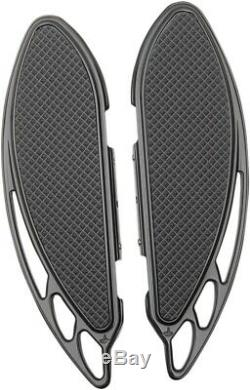 Elite Passenger Floorboards Black Carl Brouhard Designs FB-R003-R For 86-20 HD