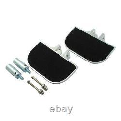Floorboards Footrest Wide Driver/Passenger Aluminum Chrome Harley Custom