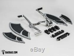Forward Controls with Heel-Toe & 992 Floorboard Kit with Front Boards & Passenger B