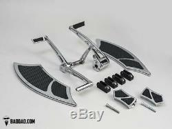 Forward Controls with Heel-Toe & 992 Floorboard Kit with Front Boards & Passenger P