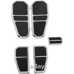 GMA Tombstone Chrome Driver Passenger Floorboard Kit Harley 80+ Touring Softail
