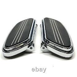 Genuine Harley OEM Chrome Streamliner Touring Rider Floorboard Foot Board Pair