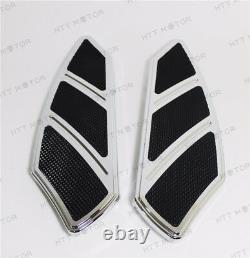 Groove Rider Front FootBoard Floorboard Fit Harley Touring Softail 84-15 Chrome