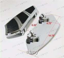 Groove Rider Front FootBoard Floorboard For Harley Touring Softail 84-15 Chrome