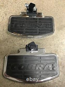 HONDA SHADOW ACE 750 1998 1999 2000 Chrome Cobra Passenger Floorboards #06-3615