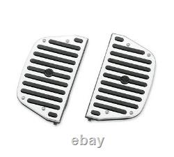 Harley Chrome and Rubber touring passenger footboard floorboard inserts insert