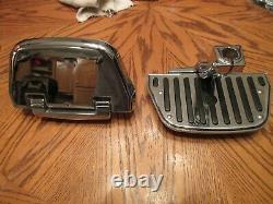 Harley Davidson Softail Chrome Passenger Floorboards & Chrome Inserts 1986-2016