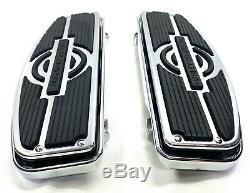 Harley OEM Touring Nostalgic Chrome Rider Floorboards Footboards Frame & Inserts