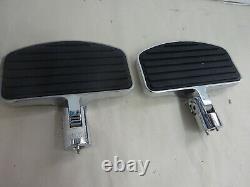 Harley Passenger Floorboard RPL Thunder Heart Heavy Duty Chrome/Black
