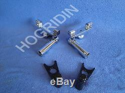 Harley Softail Adjustable Passenger Footboard Floorboard Mounting Kit 50769-07
