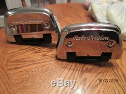 Harley Touring Electra Ultra FLH Passenger Floorboards With Script Chrome Covers