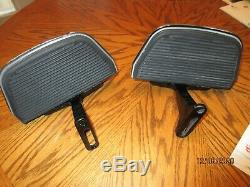 Harley Touring Ultra Road King Tri-Glide Passenger Floorboards W Chrome Covers