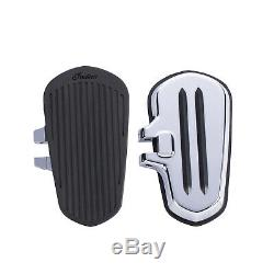 Indian Motorcycle Passenger Floorboards with Pads in Chrome, Pair
