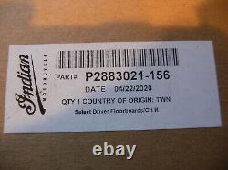 Indian OEM Select Rider Floorboards Black billet New 2883021-156 all 14-21 111 &