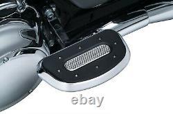Kuryakyn 7043 Heavy Industries Passenger Floorboards, Chrome Harley Bad Boy, Blac