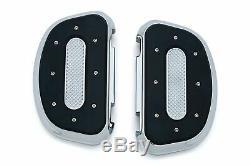 Kuryakyn Chrome Heavy Industries Passenger Floorboards Harley Touring Dyna 7043